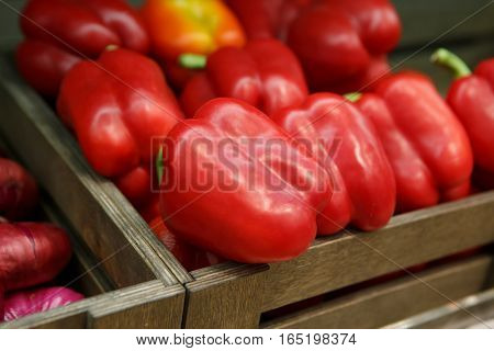 Fresh Sweet Red Pepper Box On Sale