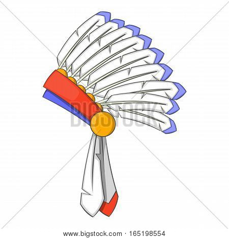 War bonnet icon. Cartoon illustration of war bonnet vector icon for web