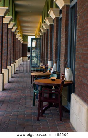 Stylish Casual Outdoor Cafe Dining Area