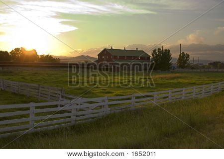 Countryside Fence And The Ranch