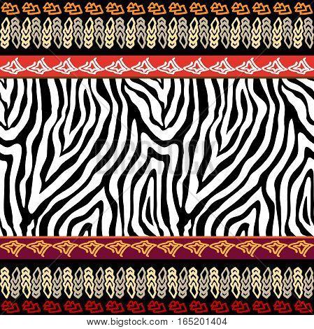 Safari textile collection. Zebra and leopard spots
