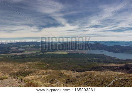 View To Lakes Taupo And Rotoaira