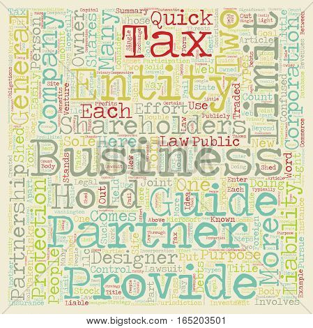 Business Entities A Quick Guide text background wordcloud concept