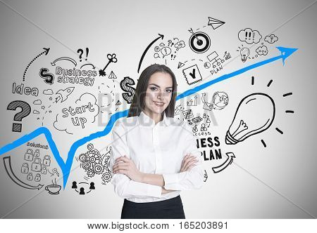 Woman With Crossed Arms, Business Plan