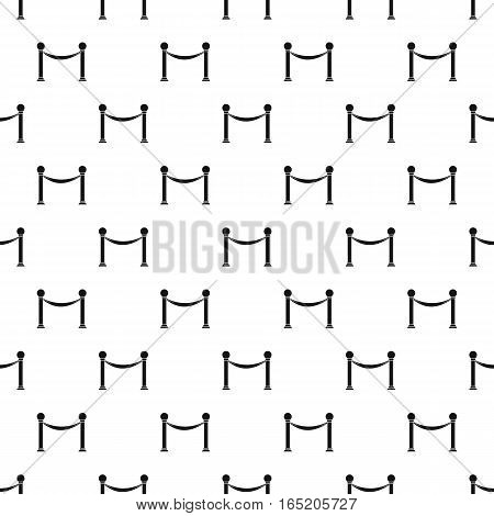 Barrier rope pattern. Simple illustration of barrier rope vector pattern for web
