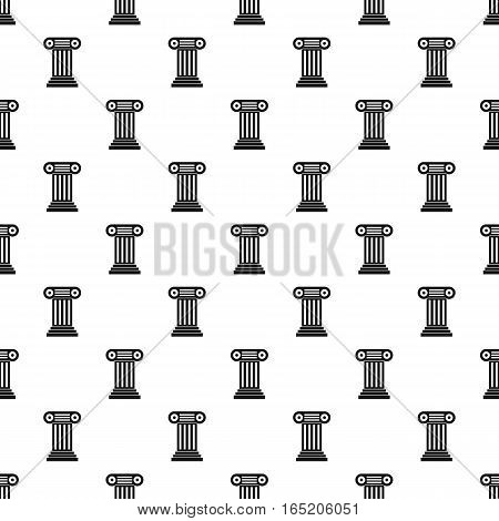 Ancient Ionic pillar pattern. Simple illustration of ancient Ionic pillar vector pattern for web