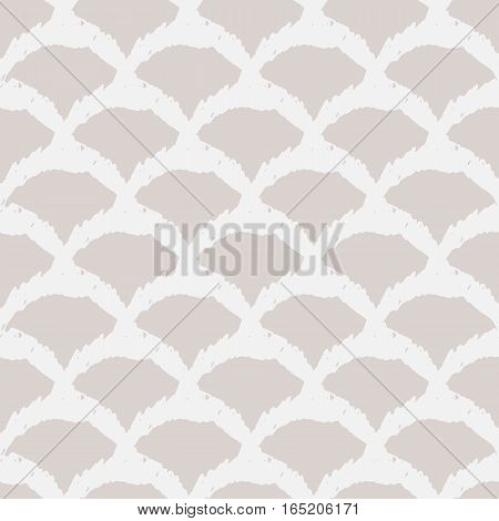 Abstract grunge texture bulging cell. Seamless pattern. Ornament painted rough brush. Grey Purple.