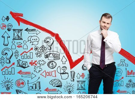 Bearded Businessman, Red Graph