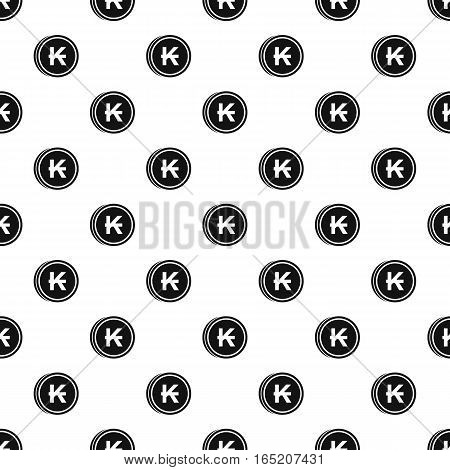 Coin with Lao kip sign pattern. Simple illustration of coin with Lao kip sign vector pattern for web