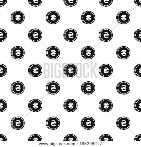 Coin with hryvnia of Ukraine sign pattern. Simple illustration of coin with hryvnia of Ukraine sign vector pattern for web