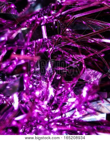 abstraction purple Christmas rain background decoration holiday