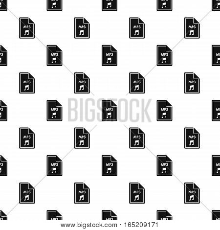 MP3 audio file extension pattern. Simple illustration of MP3 audio file extension vector pattern for web