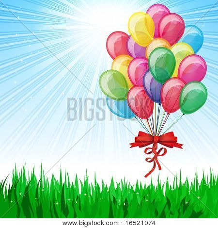 Beautiful Party Balloons Vector