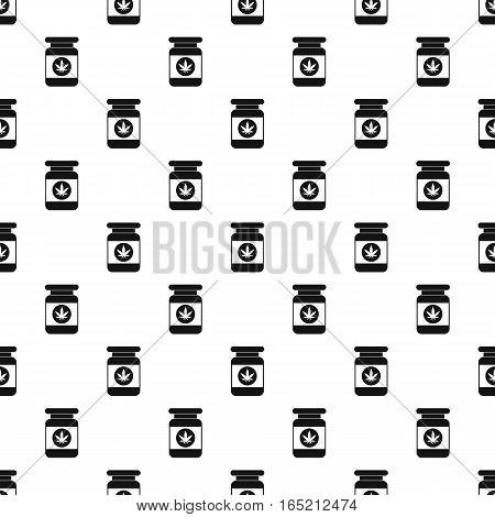 Medical marijua bottle pattern. Simple illustration of medical marijua bottle vector pattern for web