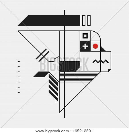 Abstract Design Element In Constructivism Style. Useful As Print, Illustration, Poster Or Cd Cover