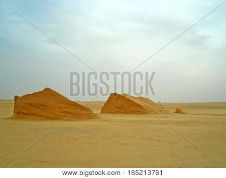 Sandscapes in the desert, Tunisia, North Africa