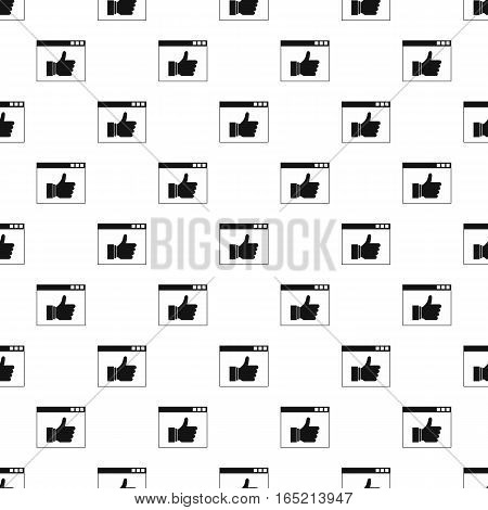 Computer monitor with like button pattern. Simple illustration of computer monitor with like button vector pattern for web