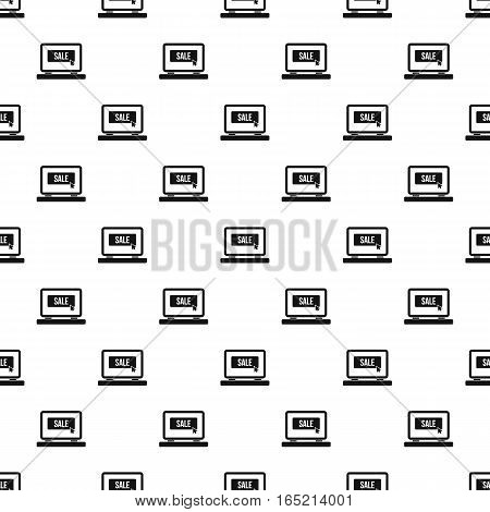 Laptop monitor with an inscription Sale pattern. Simple illustration of laptop monitor with an inscription Sale vector pattern for web