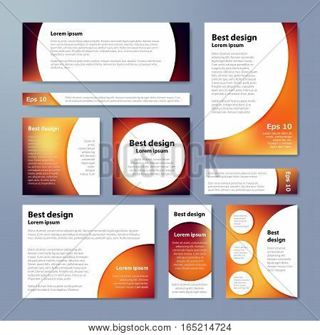Brown Corporate Identity Design Template Circles. Vector Company Style For Brandbook.