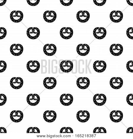 Pretzel pattern. Simple illustration of pretzel vector pattern for web
