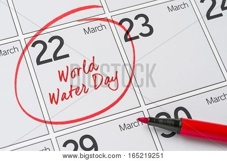 World Water Day March 22, Save the Date