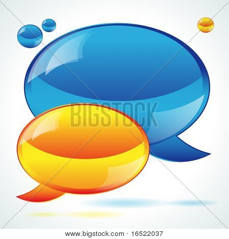 Speech bubbles background poster