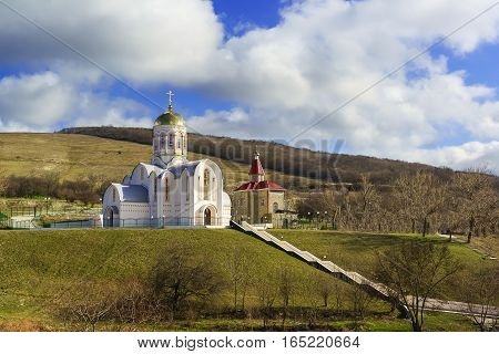 The temple of the great Martyr Varvara the village of Varvarovka Anapa Russia