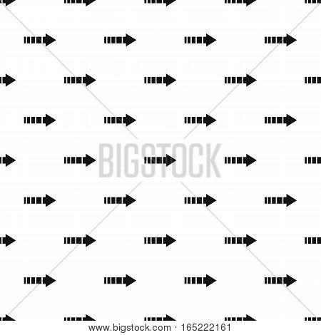 Right arrow of broken line pattern. Simple illustration of right arrow of broken line vector pattern for web