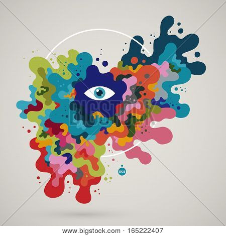 Abstract Colorful Creature. Useful For Presentations And Advertising.