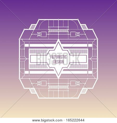 Futuristic Space Design Levitating On Gradient Background. Useful For Covers, Prints And Advertising