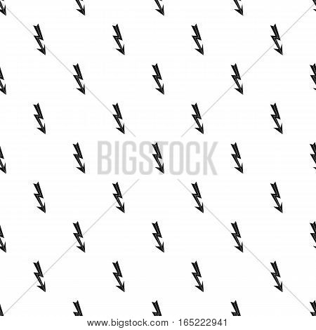 Lightning arrow pattern. Simple illustration of lightning arrow vector pattern for web