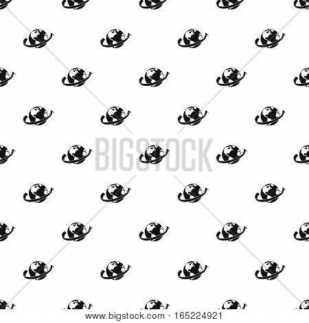 Travelling around the world pattern. Simple illustration of travelling around the world vector pattern for web