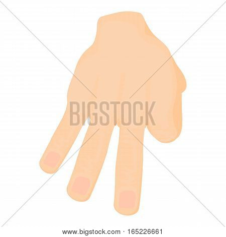 Three fingers icon . Cartoon illustration of three fingers vector icon for web