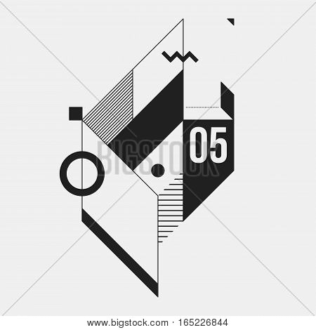 Abstract Geometric Element On White Background. Useful As Cd Cover, Print Or Poster.