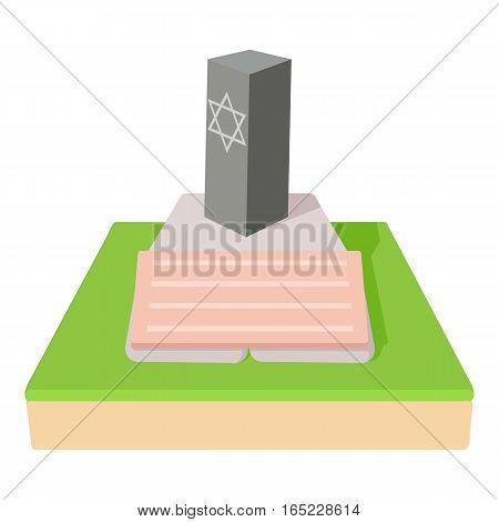 Jevish grave icon. Cartoon illustration of jevish grave vector icon for web