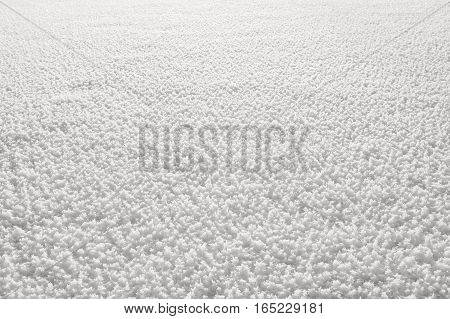 Background from crystals of frost on the surface of the lake