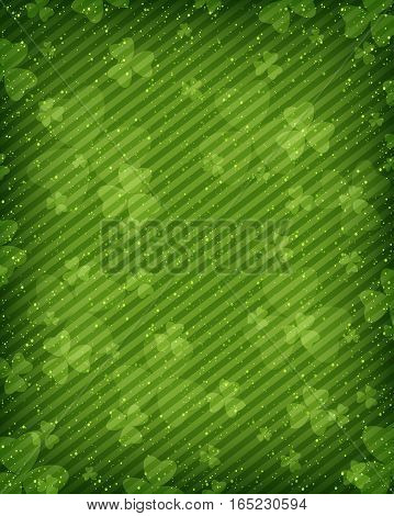Abstract green background for St. Patrick's Day