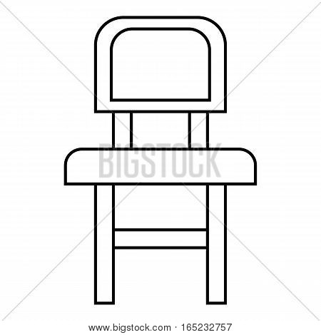 Chair icon. Outline illustration of chair vector icon for web