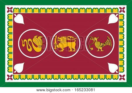 Flag of Western Province is one of the nine provinces of Sri Lanka. Vector illustration