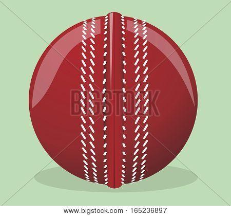 Vector illustration. Ball for cricket. Sport equipment