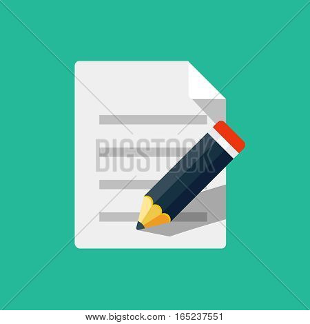 Paper and pencil icon, design element for mobile and web applications, eps 10