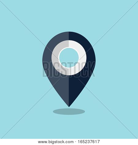 Map pin icon, design element for mobile and web applications, eps 10