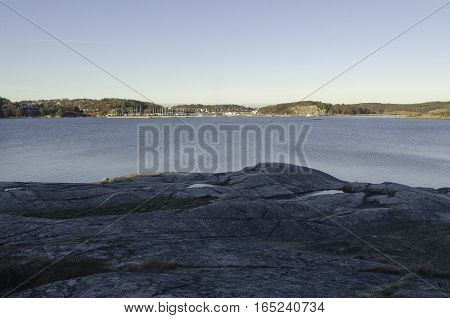 some rock on the swedish westcoast this is in Gothenburg Hovas
