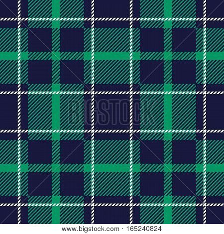 Seamless Pattern Similar to the Scottish Tartan. Executed in Blue and Green Colors.