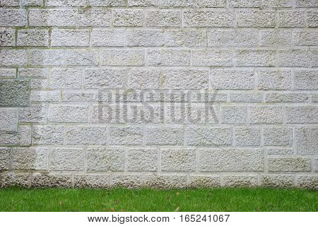 Stone wall with Green field, stonewall, texture
