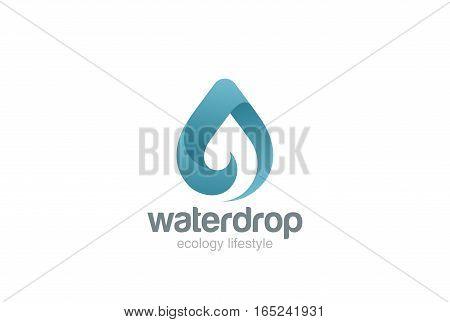 Water drop Logo design vector template. Wave concept. Waterdrop icon. Aqua droplet Logotype idea.