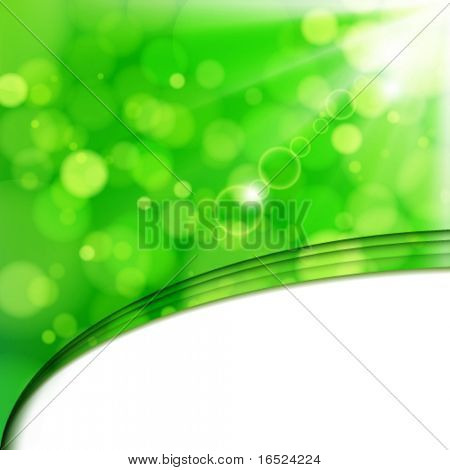 Vector Fresh lime blur background with sunlight spots.