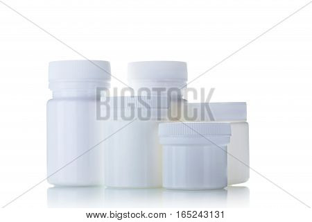 Cosmetic Bottles Isolated On A White Background