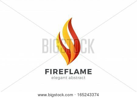 Fire Flame Logo design vector template. Abstract Elegant element Logotype concept icon