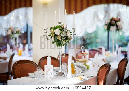 Beautiful Wedding Reception Table Decoration